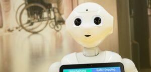 Pflegeroboter als Exponat der neuen Ausstellung Heilen und Pflegen