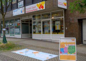 Spieleparcours für Kinder in Wattenscheid: Aufkleber auf dem Boden