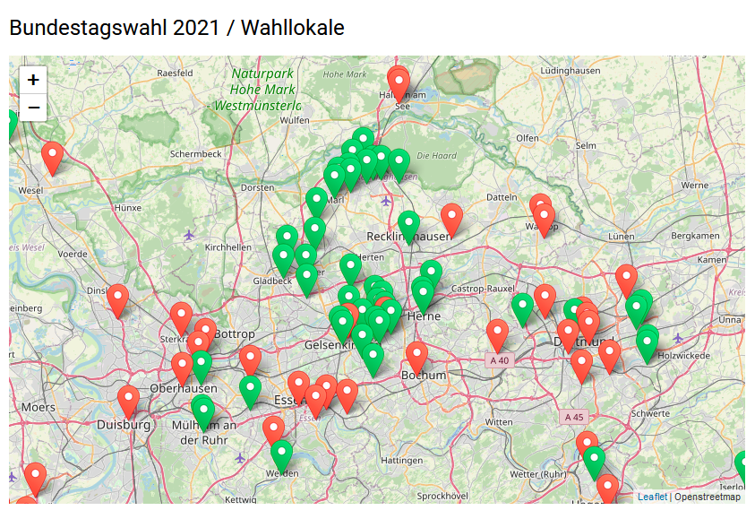 U18-Wahllokale im Ruhrgebiet