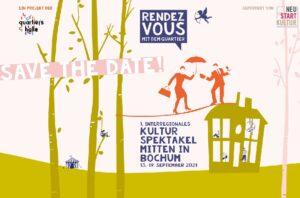 Das Bild zeigt das Plakat des Rendezvous mit dem Quartier