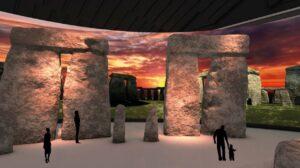 Stonehenge in Herne: digitale nachbildung